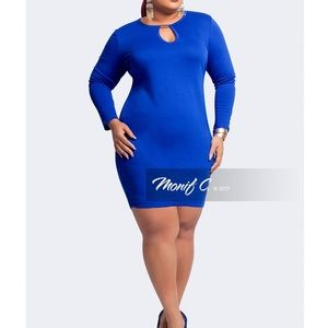Monifc Janelle Body Con Dress Royal Blue  NWT